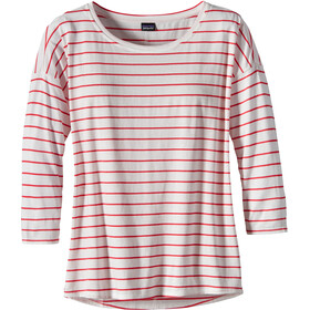Patagonia Shallow Seas - T-shirt manches longues Femme - rouge/blanc